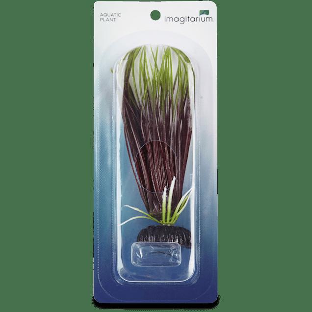 Imagitarium Hairgrass Plastic Aquatic Decor, Small Green & Red - Carousel image #1