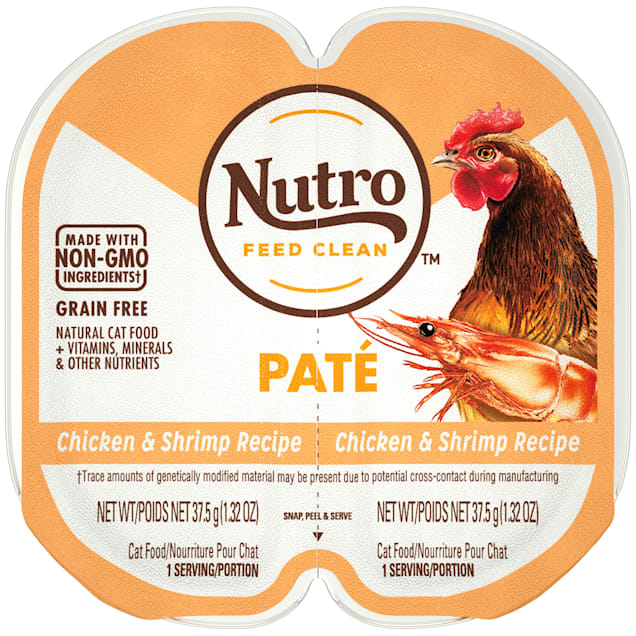 Nutro Perfect Portions Real Chicken and Shrimp Pate Wet Cat Food, 2.64 oz., Case of 24 - Carousel image #1