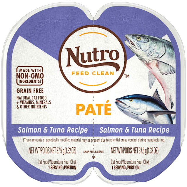 Nutro Perfect Portions Real Salmon and Tuna Pate Wet Cat Food, 2.64 oz., Case of 24 - Carousel image #1