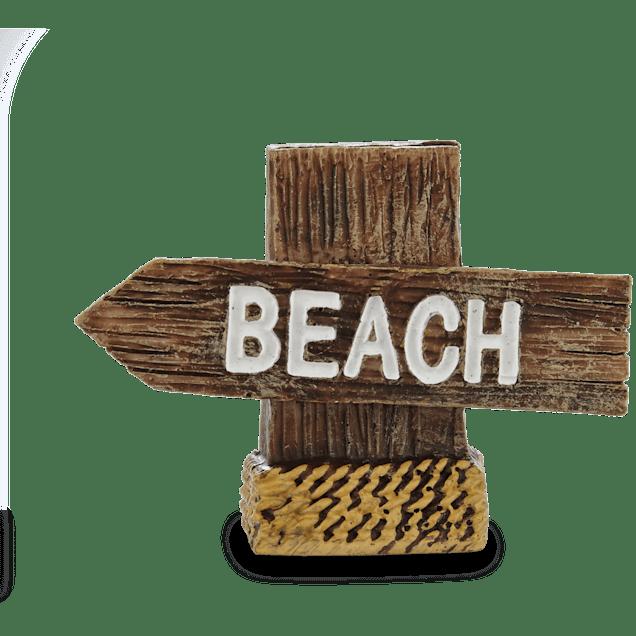 Imagitarium Resin Beach Sign Aquatic Decor - Carousel image #1