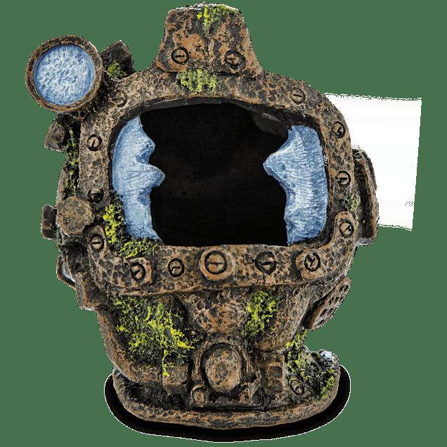Imagitarium Resin Detailed Diver Helmet Aquatic Decor - Carousel image #1