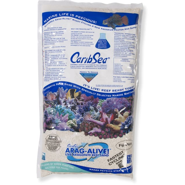 CaribSea Arag-Alive Fiji Pink Aquariam Sand, 20 lbs. - Carousel image #1
