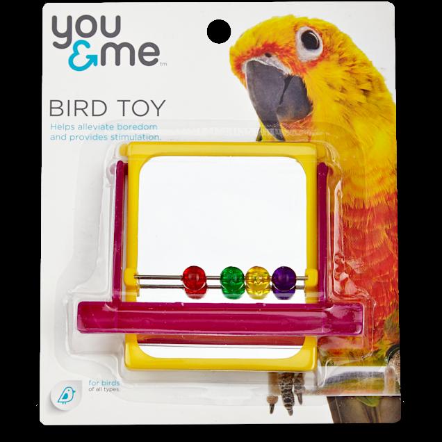 You & Me Mirrored Bead Bird Toy - Carousel image #1