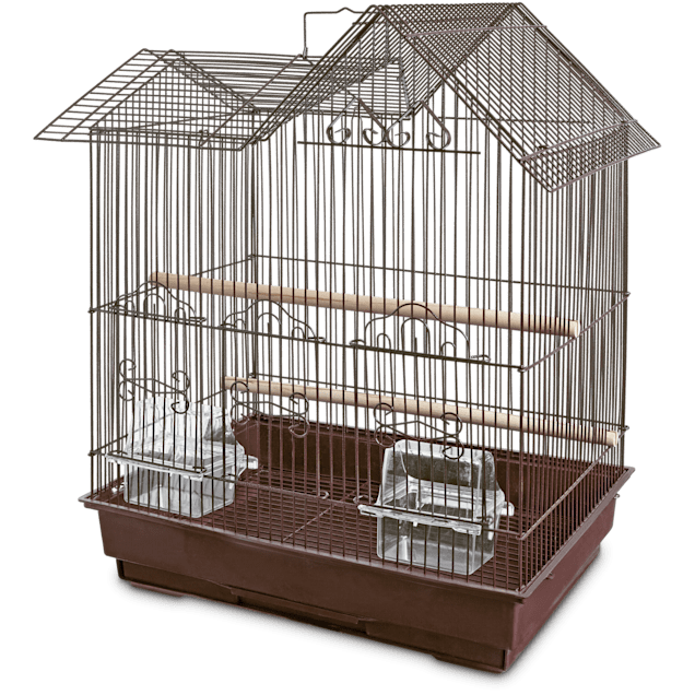 You & Me Parakeet Ranch House Cage, Brown - Carousel image #1