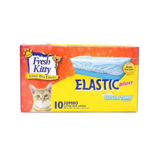 Fresh Kitty Jumbo Elastic Litter Box Liners, Pack of 10 liners - Carousel image #1