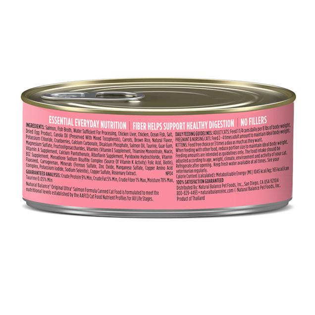Natural Balance Salmon Formula Wet Cat Food, 5.5 oz., Case of 24 - Carousel image #1