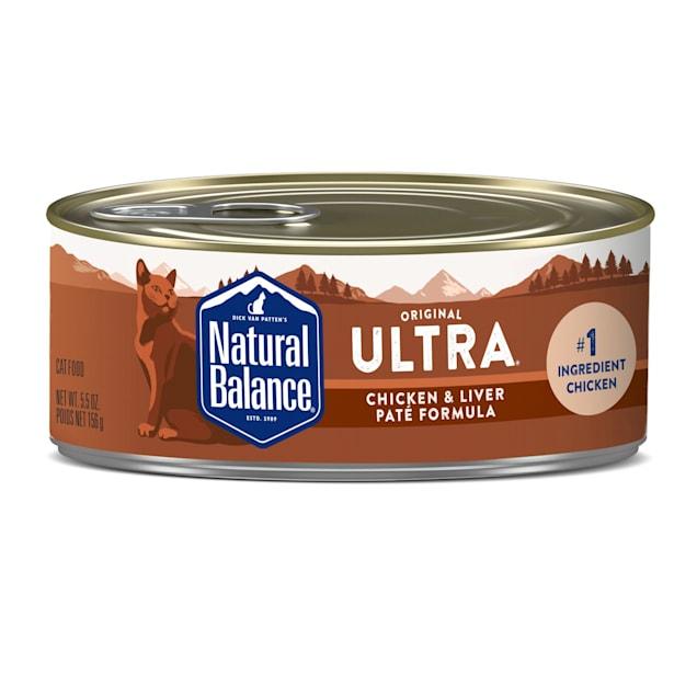 Natural Balance Chicken & Liver Pate Formula Wet Cat Food, 5.5 oz., Case of 24 - Carousel image #1