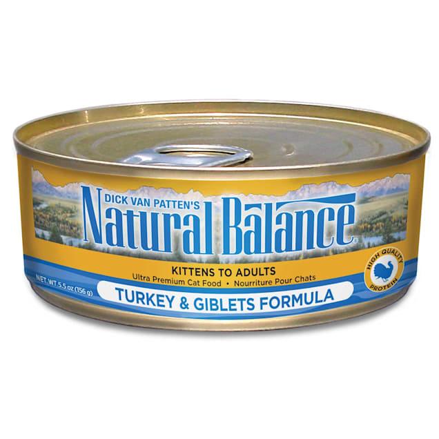 Natural Balance Turkey & Giblets Formula Wet Cat Food, 5.5 oz., Case of 24 - Carousel image #1