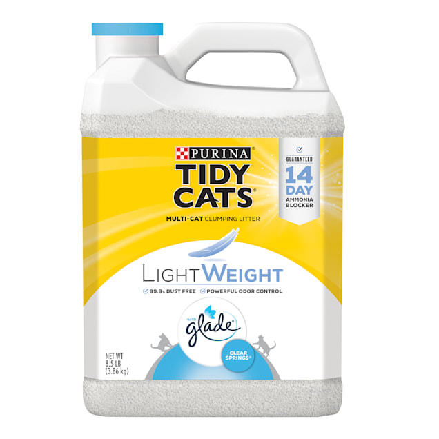 Tidy Cats LightWeight Glade Clear Springs Dust Free Clumping Mulit Cat Litter, 8.5 lbs. - Carousel image #1