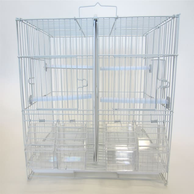 "YML Small White Breeding Bird Cage, 15"" L X 10.5"" W X 12.8"" H - Carousel image #1"