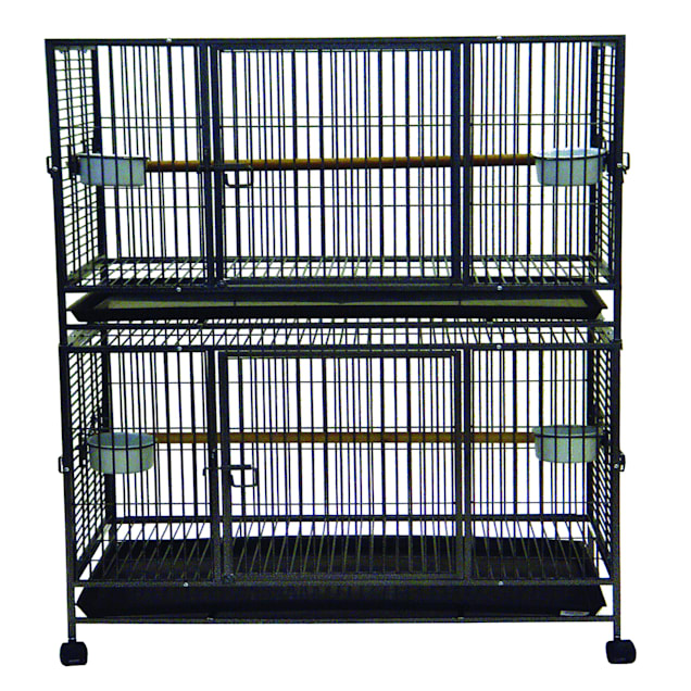 "YML Wrought Iron Antique Bird Cage, 37.5"" L X 24"" W X 58"" H - Carousel image #1"