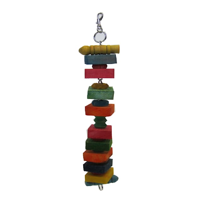 """YML Square Wooden Bird Toy, 1.3"""" L X 2.4"""" W X 14"""" H - Carousel image #1"""