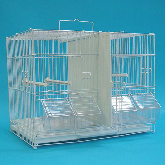 "YML Medium White Breeding Bird Cage, 17"" L X 10.5"" W X 12.8"" H - Carousel image #1"