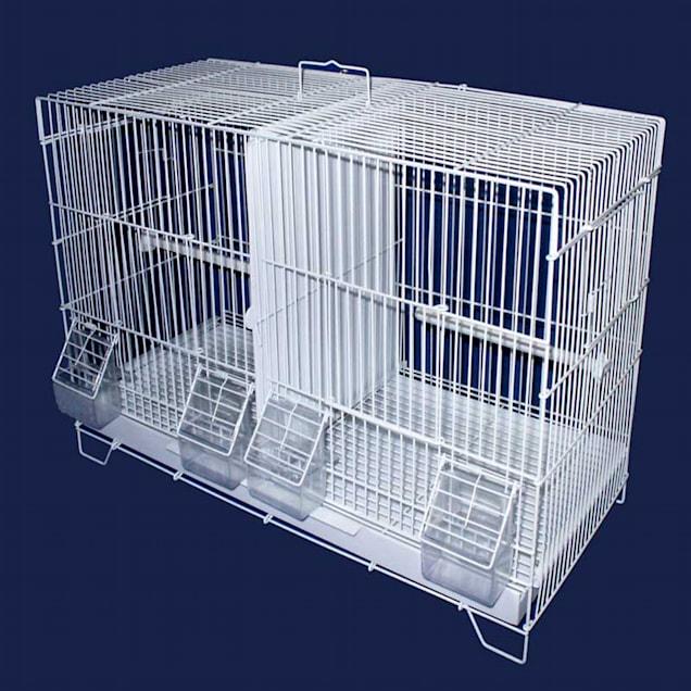 "YML Large White Breeding Bird Cage, 23.5"" L X 10.5"" W X 15.5"" H - Carousel image #1"