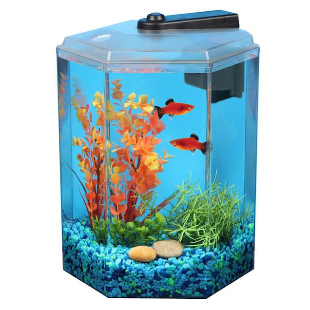 Imagitarium 1.7 Gallon Hexagonal Aquarium - Carousel image #1