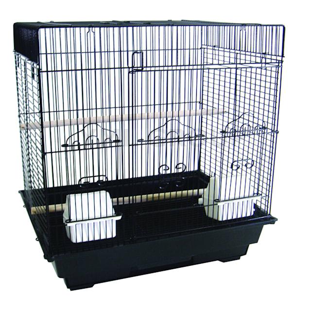"YML Square Top Black Bird Cage, 18"" L X 14"" W X 22"" H - Carousel image #1"