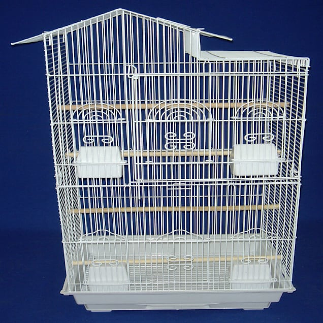 "YML Tall Villa White Top Bird Cage, 18"" L X 14"" W X 35"" H - Carousel image #1"