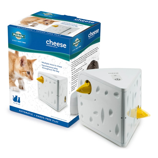 """PetSafe Automatic Cheese Cat Toy, 5"""" L X 5.8"""" W X 7.5"""" H - Carousel image #1"""