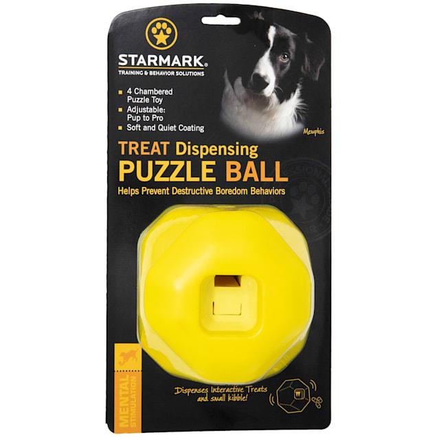 Starmark Bumper Body Puzzle Ball Dog Treat Dispenser - Carousel image #1