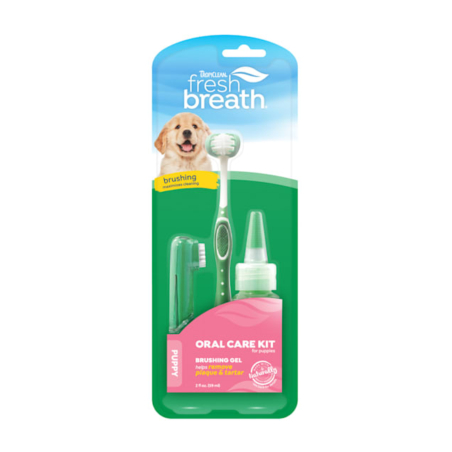 TropiClean Fresh Breath Oral Care Kit for Puppies - Carousel image #1