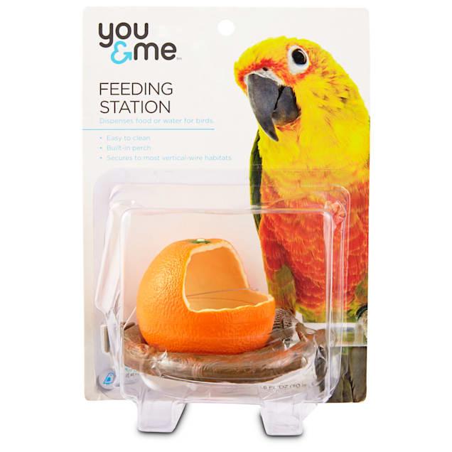 You & Me Orange Seed Cup Bird Feeder - Carousel image #1