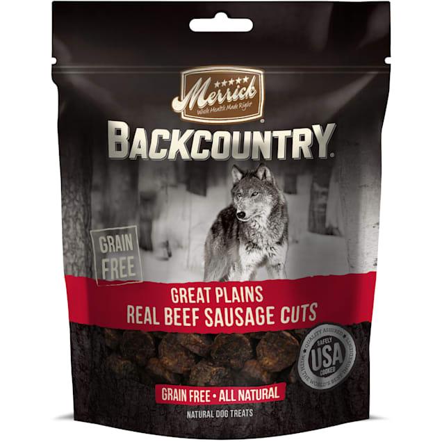 Merrick Backcountry Great Plains Real Beef Sausage Cuts Grain Free Dog Treats, 5 oz. - Carousel image #1