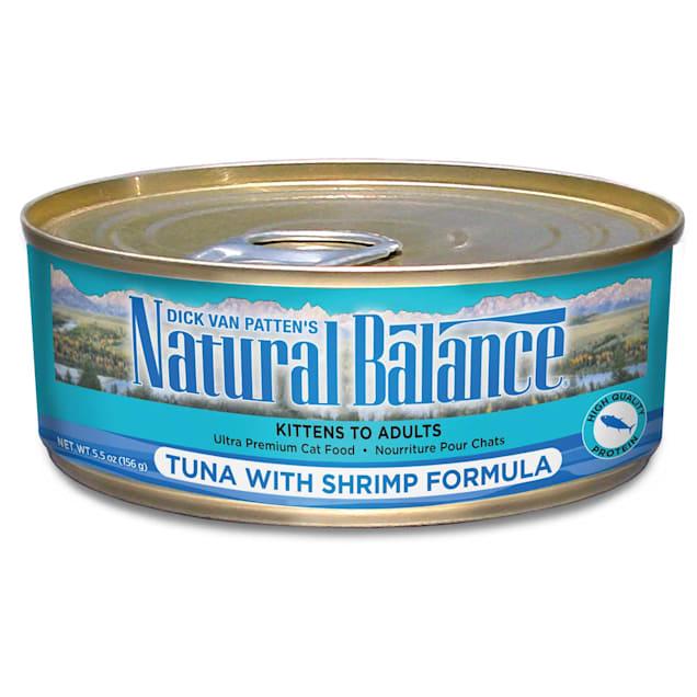 Natural Balance Tuna with Shrimp Formula Wet Cat Food, 5.5 oz., Case of 24 - Carousel image #1