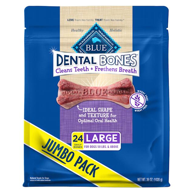 Blue Buffalo Blue Dental Bones Large Size Dog Chews, 36 oz. - Carousel image #1