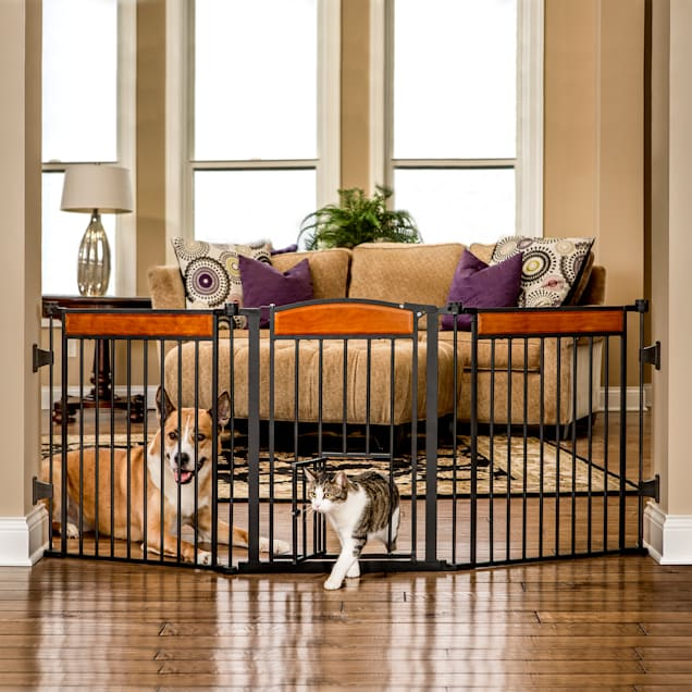 Carlson Design Paw Arched Flexi Pet Gate - Carousel image #1