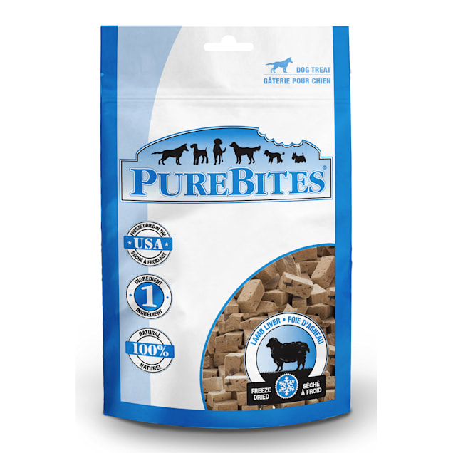 PureBites Lamb Liver Freeze Dried Dog Treats, 3.35 oz. - Carousel image #1