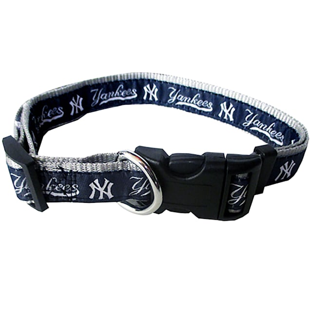 Pets First New York Yankees Collar, Small - Carousel image #1