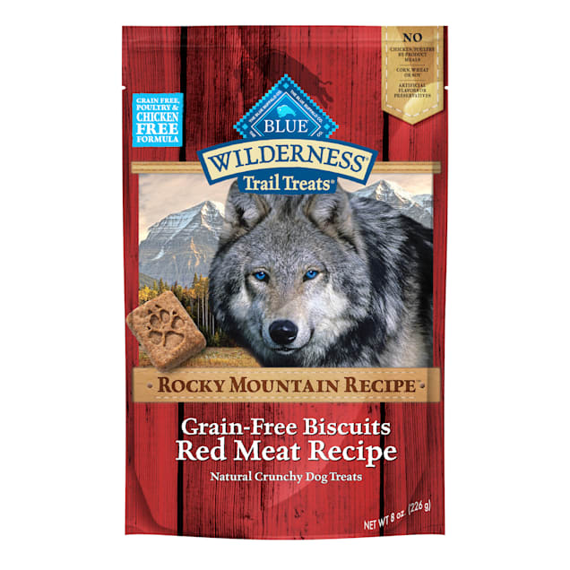 Blue Buffalo Blue Wilderness Rocky Mountain Recipe Red Meat Recipe Biscuits, 8 oz. - Carousel image #1