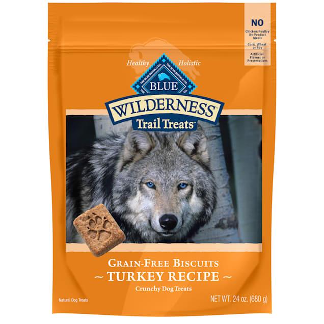 Blue Buffalo Blue Wilderness Trail Treats Turkey Biscuits Dog Treats, 24 oz. - Carousel image #1