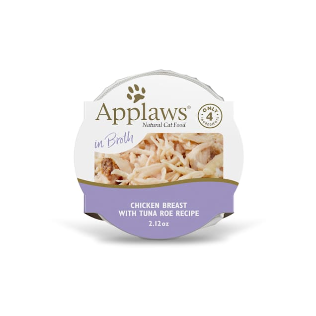 Applaws Natural Chicken Breast with Tuna Roe in Broth Wet Cat Food, 2.12 oz., Case of 18 - Carousel image #1