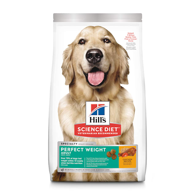 Hill's Science Diet Adult Perfect Weight Chicken Recipe Dry Dog Food, 28.5 lbs. - Carousel image #1