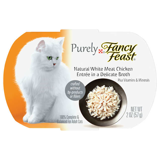 Fancy Feast Purely Naturals Chicken Adult Wet Cat Food Trays, 2 oz., Case of 10 - Carousel image #1