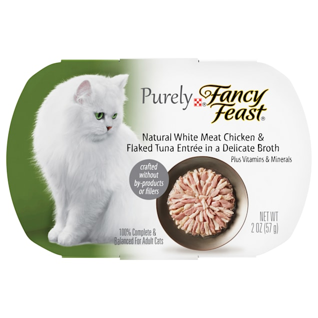 Fancy Feast Purely Naturals Chicken & Tuna Adult Wet Cat Food Trays, 2 oz., Case of 10 - Carousel image #1
