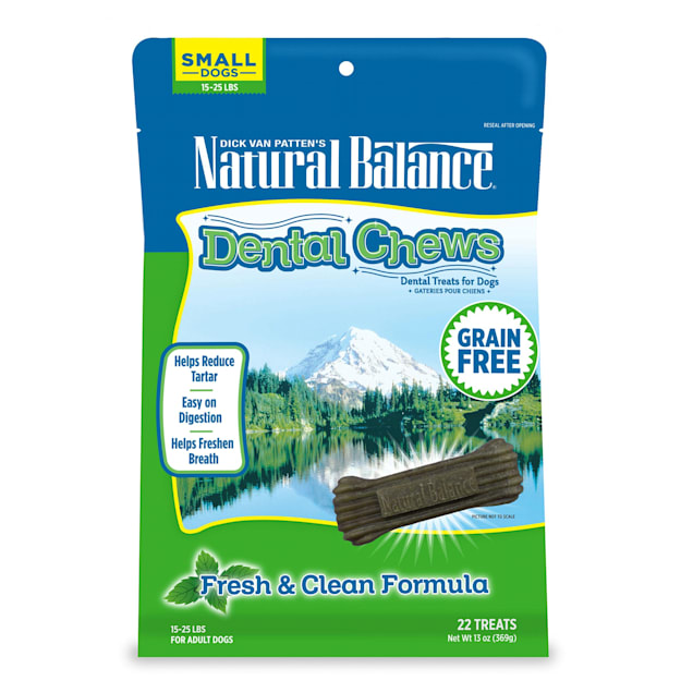 Natural Balance L.I.D. Limited Ingredient Diets Fresh & Clean Small Dog Dental Chews, 13 oz. - Carousel image #1