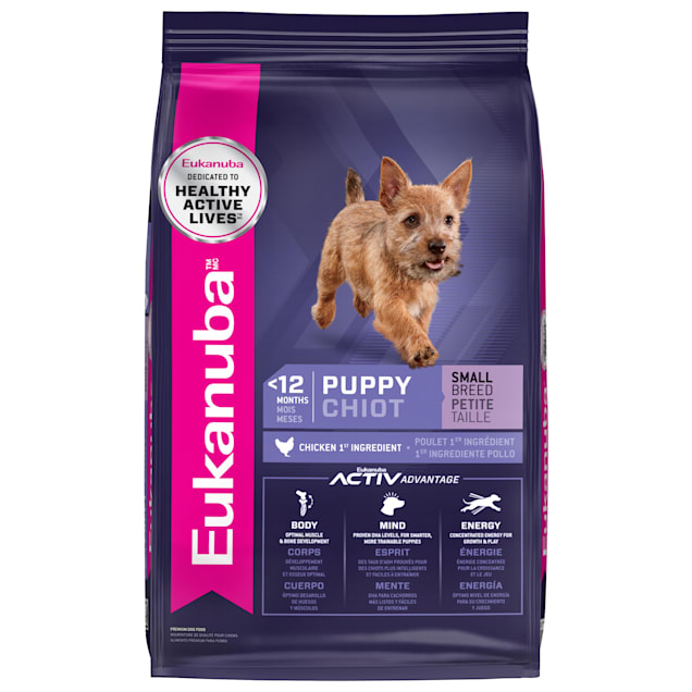 Eukanuba Puppy Small Breed Chicken Flavor Dry Dog Food, 15 lbs. - Carousel image #1