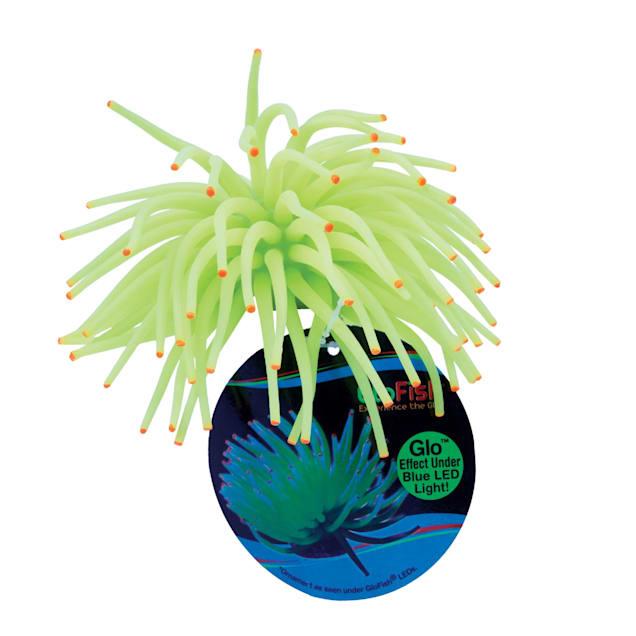 "GloFish Anemone Yellow Aquarium Ornament, 4.5"" L x 4.5"" W x 2.25"" H - Carousel image #1"