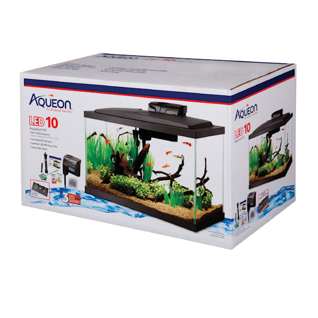 "Aqueon LED 10 Gallon Aquarium Kit, 22.88"" L X 12.75"" W X 13.88"" H - Carousel image #1"