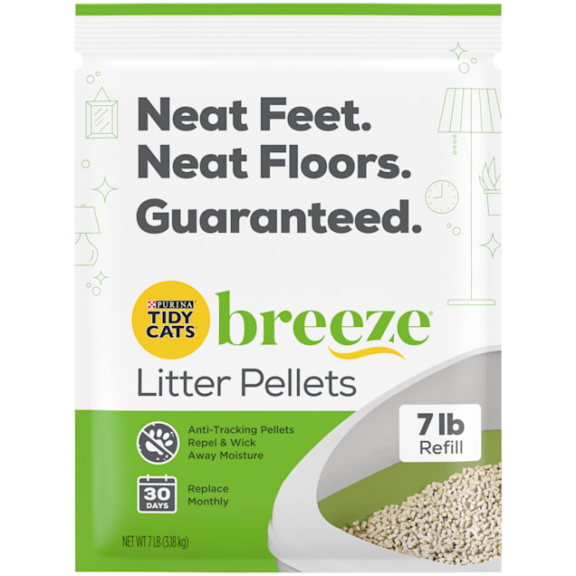 Purina Tidy Cats Breeze Pellets Refill Litter for Multiple Cats, 7 lbs., Case of 4 - Carousel image #1