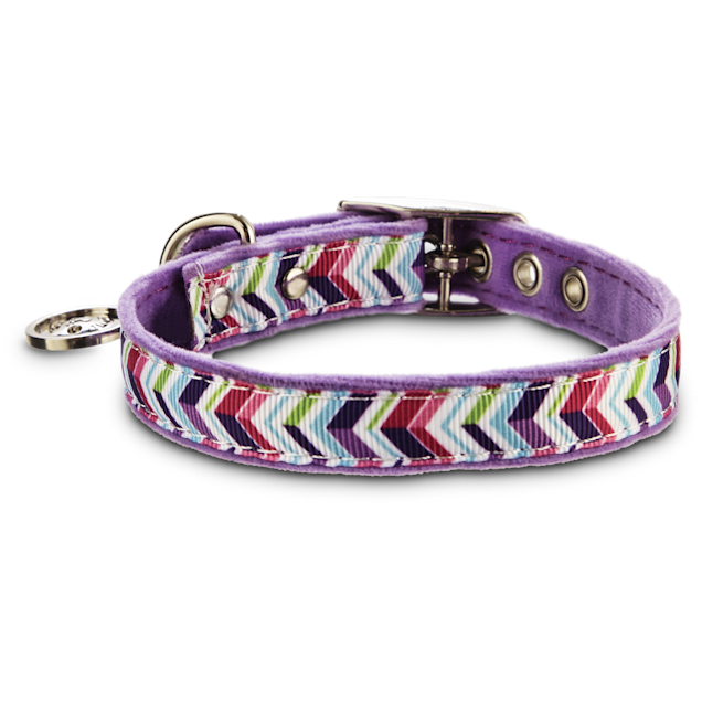 "Bond & Co. Purple Zigzag Collar, For Necks 10""-12"" - Carousel image #1"