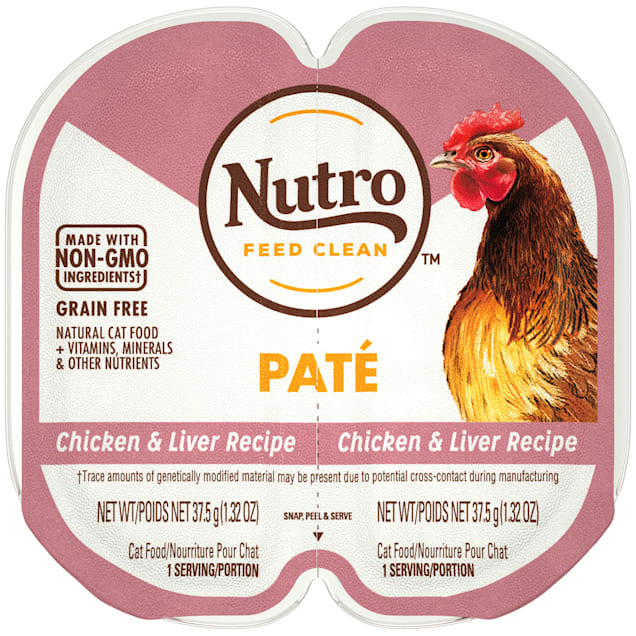 Nutro Perfect Portions Real Chicken and Liver Pate Wet Cat Food, 2.64 oz., Case of 24 - Carousel image #1