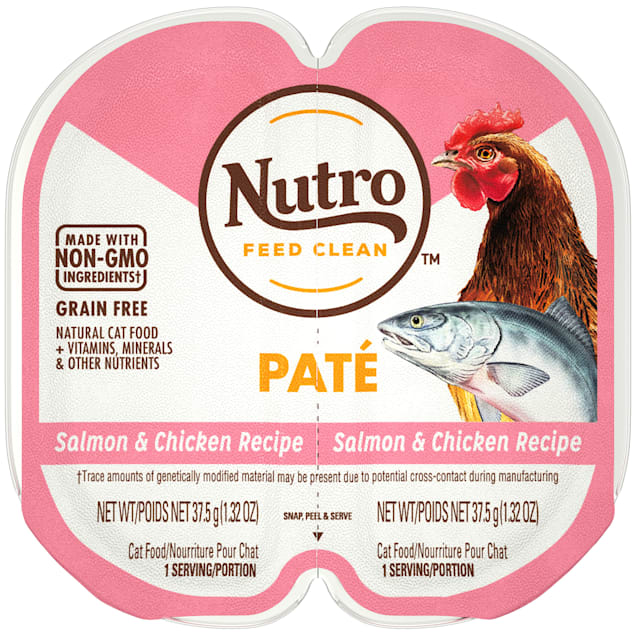 Nutro Perfect Portions Real Salmon and Chicken Pate Wet Cat Food, 2.64 oz., Case of 24 - Carousel image #1