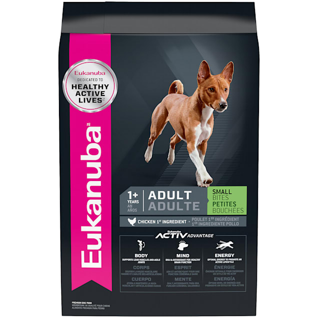 Eukanuba Adult Small Bites Chicken Flavor Dry Dog Food, 33 lbs. - Carousel image #1