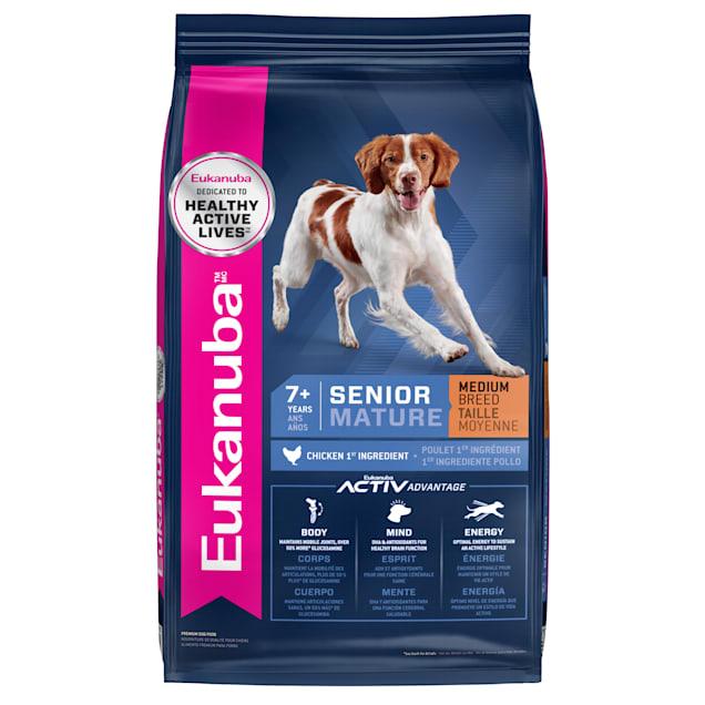 Eukanuba Senior Medium Breed Chicken Flavor Dry Dog Food, 30 lbs. - Carousel image #1
