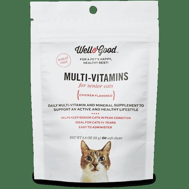 Well & Good Multi Vitamin for Senior Cats, 60 ct - Carousel image #1