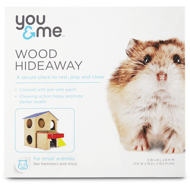 You & Me Large Wood 2-Story Hamster House - Carousel image #1