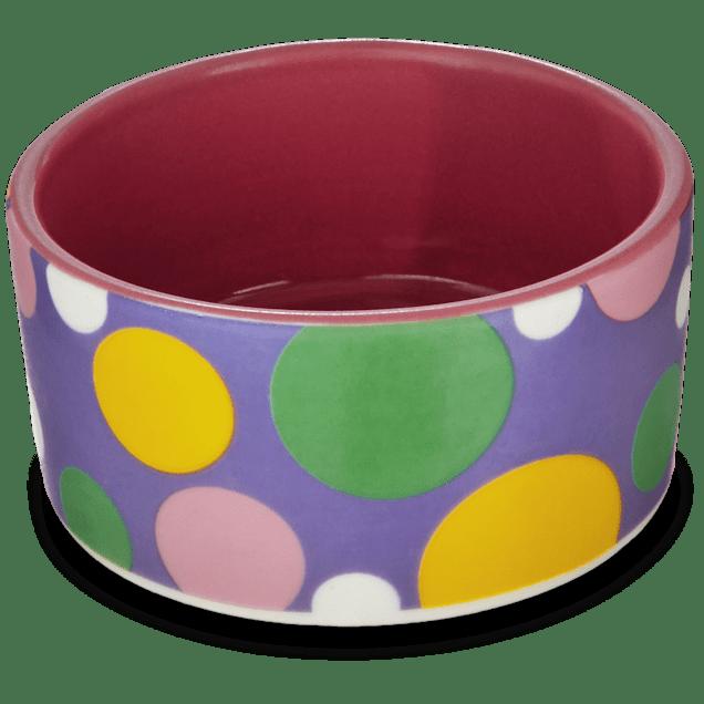 You & Me Pink Polka Dot Dish, Small - Carousel image #1